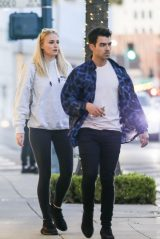 Sophie Turner and Joe Jonas - Leaving Their Hotel in Beverly Hills 01/23/2020