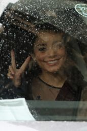 "Vanessa Hudgens - Arrives For the Filiming of ""The Princess Switch: Switched Again"" in Glasgow 01/08/2020"