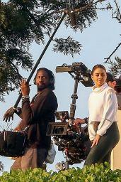 Vanessa Hudgens - Filming a Sportswear Ad 01/16/2020