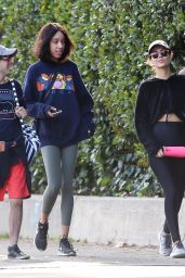 Victoria Justice and Madison Reed - Leaving Fryman Canyon in Studio City 01/19/2020