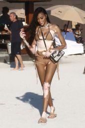 Winnie Harlow in a Bikini on the Beach in Miami 01/01/2020