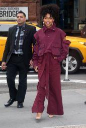 Yara Shahidi - Outside BUILD Series in NYC 01/14/2020