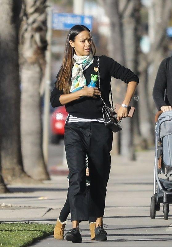Zoe Saldana Street Style - Los Angeles 01/18/2020