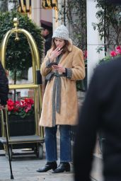 Alexa Chung - Smoke Break in Paris 02/27/2020
