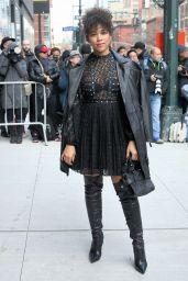 Alexandra Shipp – Arriving at the Longchamp Fashion Show in NY 02/08/2020