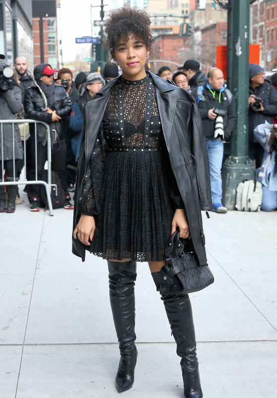 Alexandra Shipp – Arriving at the Longchamp Fashion Show in NY 02/08/2020