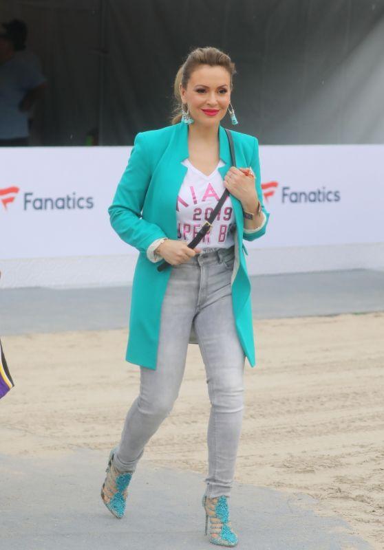 Alyssa Milano - Fanatics Pre-Super Bowl Party in Miami 02/01/2020