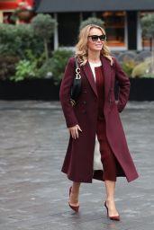 Amanda Holden in Burgundy Coat 02/13/2020