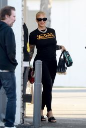 Amber Rose Street Style - Los Angeles 02/11/2020