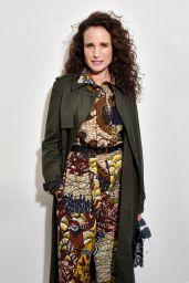 Andie MacDowell – Dior Show at Paris Fashion Week 02/25/2020