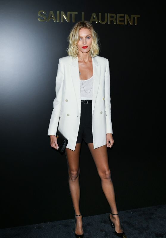 Anja Rubik – Saint Laurent Show in Paris 02/25/2020
