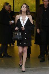 Ashley Benson - Leaving the Balmain Show in Paris 02/28/2020