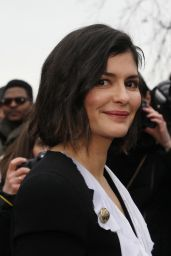Audrey Tautou - Balmain Fashion Show in Paris 02/28/2020