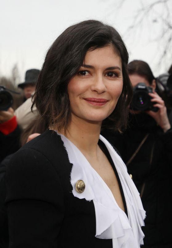 Audrey Tautou - Balmain Fashion Show in Paris 02/28/2020
