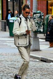 Bella Hadid Cute Street Style - New York 02/04/2020