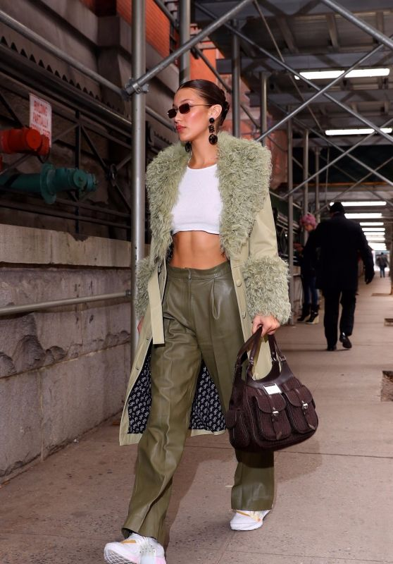 Bella Hadid - Heads Into the Marc Jacobs Show in NYC 02/12/2020