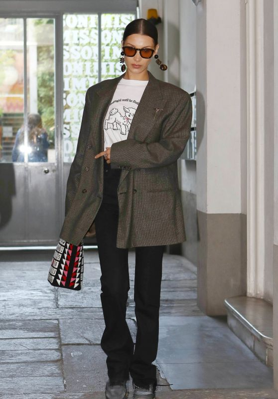 Bella Hadid in Casual Outfit - Milan 02/21/2020