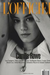 Camille Rowe -  L'Officiel Magazine Paris February 2020 Issue
