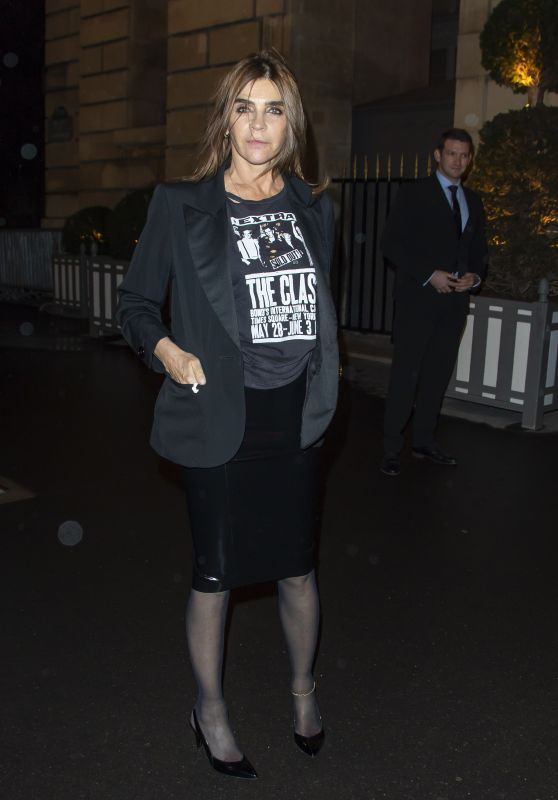 Carine Roitfeld - Arrives at the CR Fashion Book X Redemption Party in Paris 02/28/2020