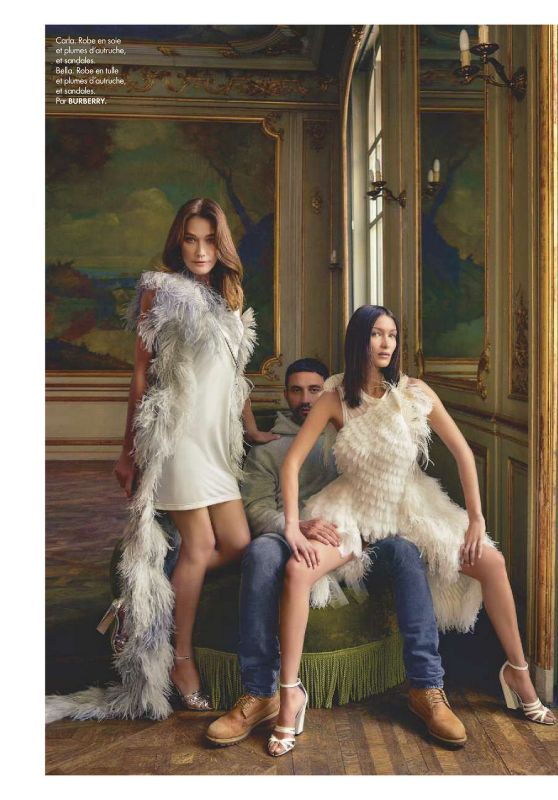 Carla Bruni and Bella Hadid - ELLE France 02/28/2020 Issue