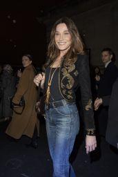 Carla Bruni – Celine Show at Paris Fashion Week 02/28/2020