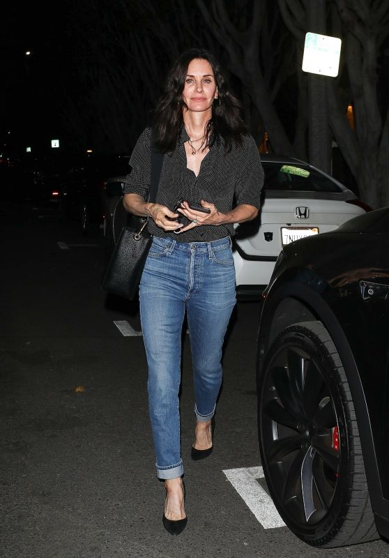 Courteney Cox Night Out - Melrose Place 02/27/2020