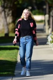 Dakota Fanning in Casual Outfit - Los Angeles 02/15/2020