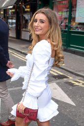 Dani Dyer in a White Mini Dress - Soho in London 02/21/2020