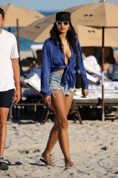 Danielle Herrington in a Bikini at the Beach in Miami 02/03/2020