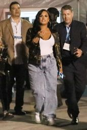 Demi Lovato - Arrives at Superbowl in Miami 02/02/2020