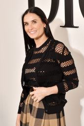 Demi Moore – Dior Show at Paris Fashion Week 02/25/2020