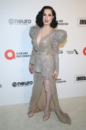 Dita Von Teese – Elton John AIDS Foundation Oscar 2020 Viewing Party