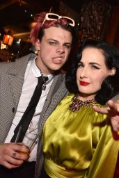Dita Von Teese - Ozzy Osbourne Global Tattoo and Album Listening Party in LA 02/20/2020