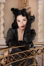 Dita Von Teese - Promoting Her New Tour Glamonatrix in London 01/31/2020