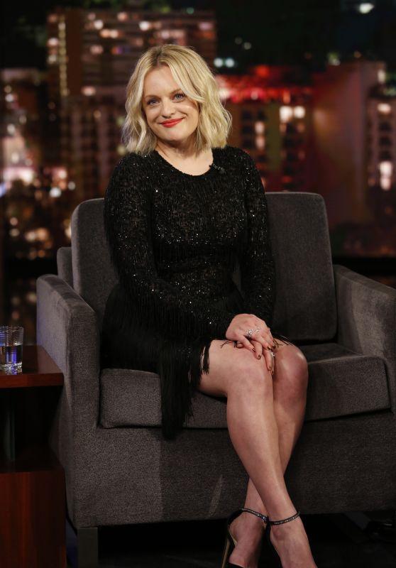 Elisabeth Moss - Jimmy Kimmel Live! in LA 02/25/2020