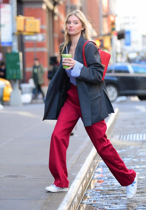 Elsa Hosk Street Style - Out in NYC 02/27/2020
