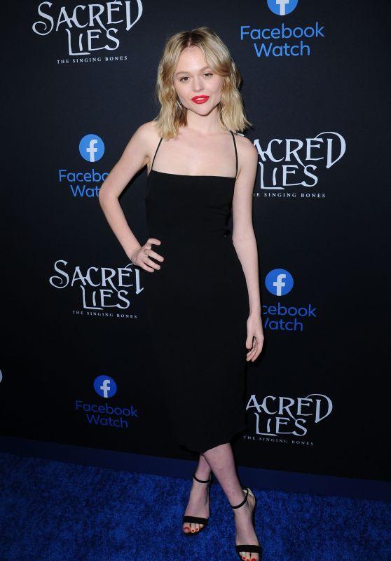 """Emily Alyn Lind – """"Sacred Lies The Singing Bones"""" TV Show Premiere in LA"""