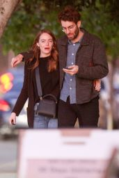 Emma Stone - Leaving a Restaurant in Los Angeles 02/26/2020