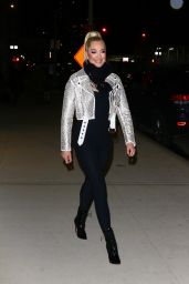 Erika Jayne in Sequin Biker Jacket and Christian Louboutin Boots 02/19/2020