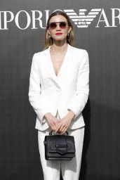 Fiammetta Cicogna – Emporio Armani Show Photocall at Milan Fashion Week 02/21/2020