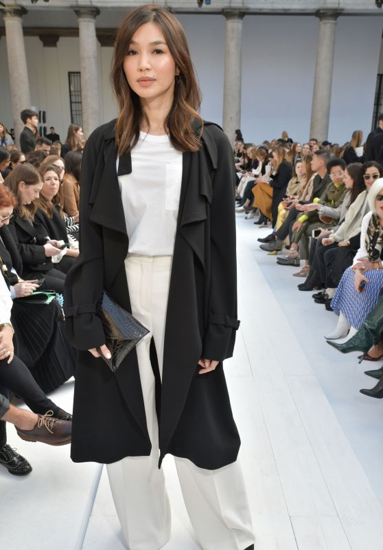 Gemma Chan – Max Mara Show at Milan Fashion Week 02/20/2020