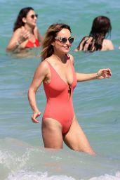Giada De Laurentiis in a Red Swimsuit 02/20/2020