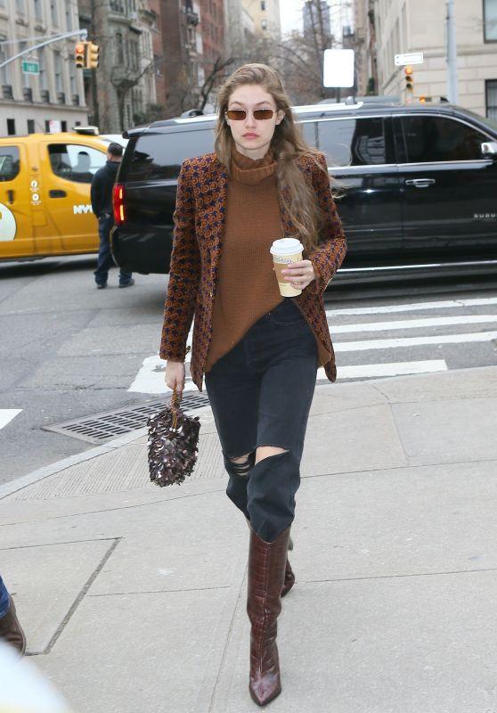 Gigi Hadid Street Style - NYC 02/12/2020