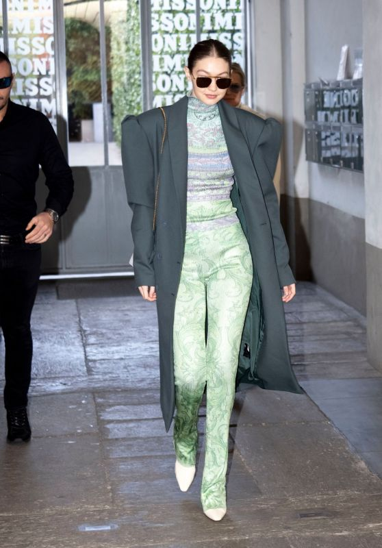 Gigi Hadid Style - Out in Milan 02/21/2020