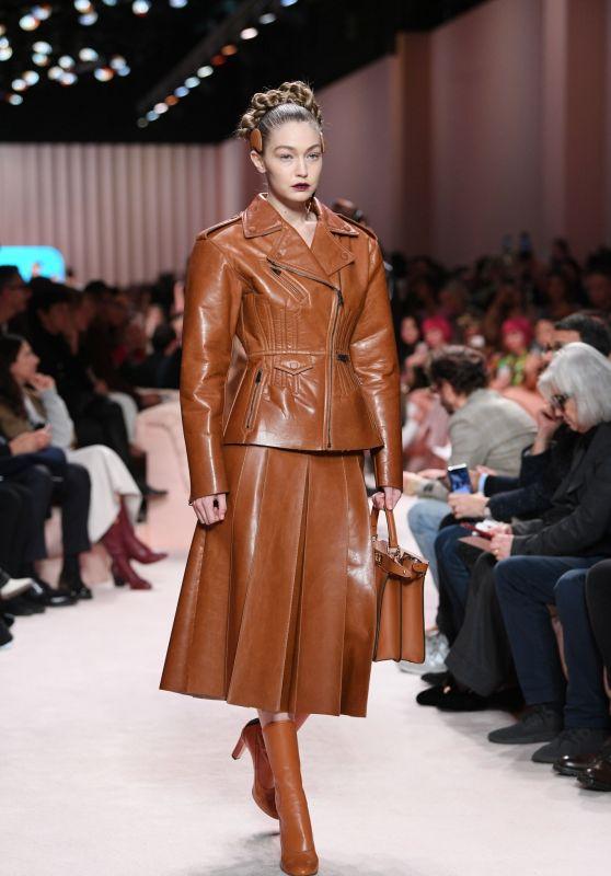 Gigi Hadid - Walks Fendi Fashion Show in Milan 02/20/2020
