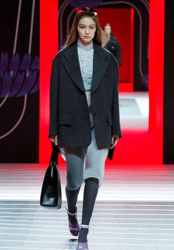Gigi Hadid - Walks Prada Fashion Show in Milan 02/20/2020