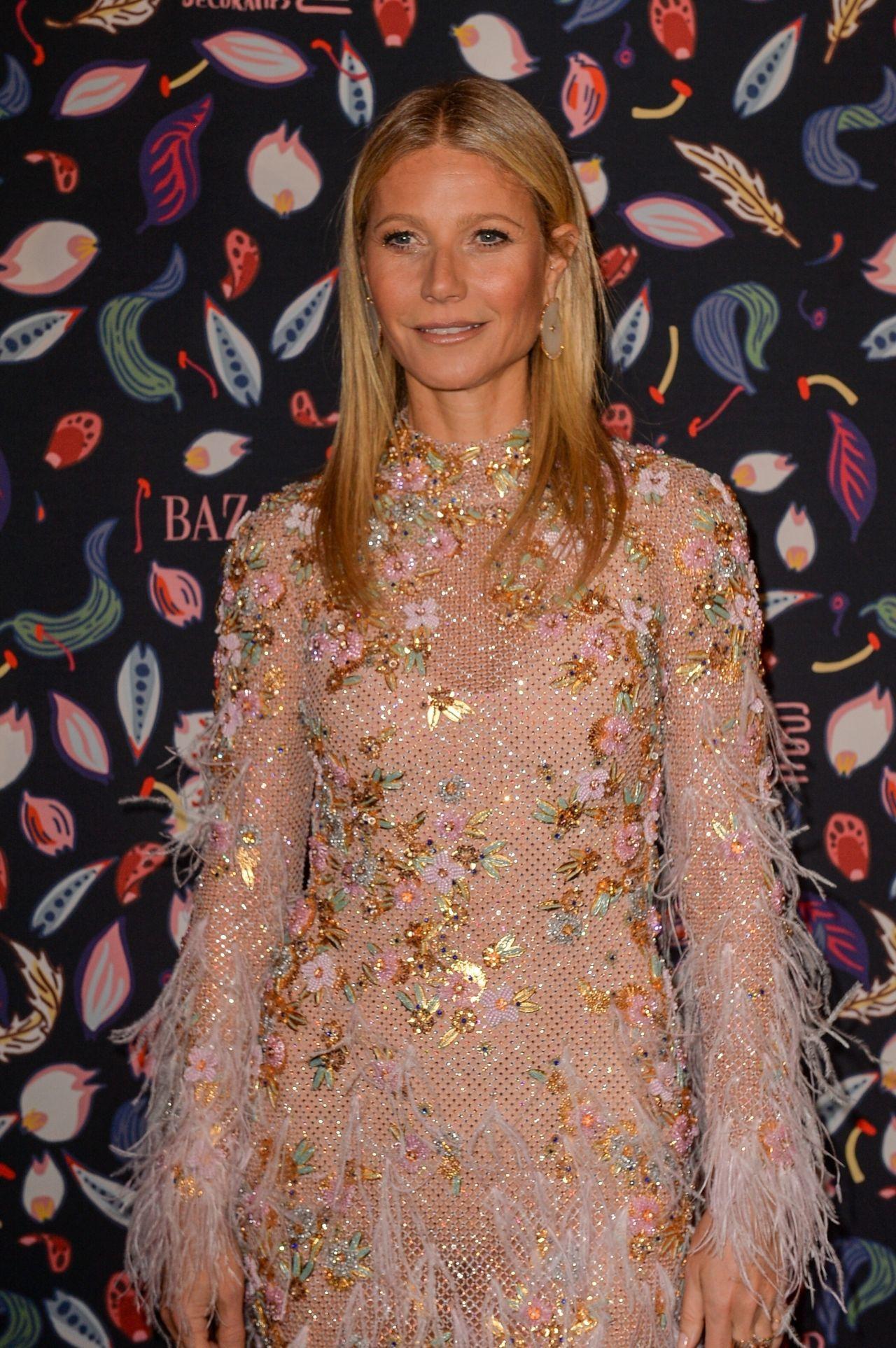 Gwyneth Paltrow – Harper's Bazaar Gala at Paris Fashion Week 02/26 ...