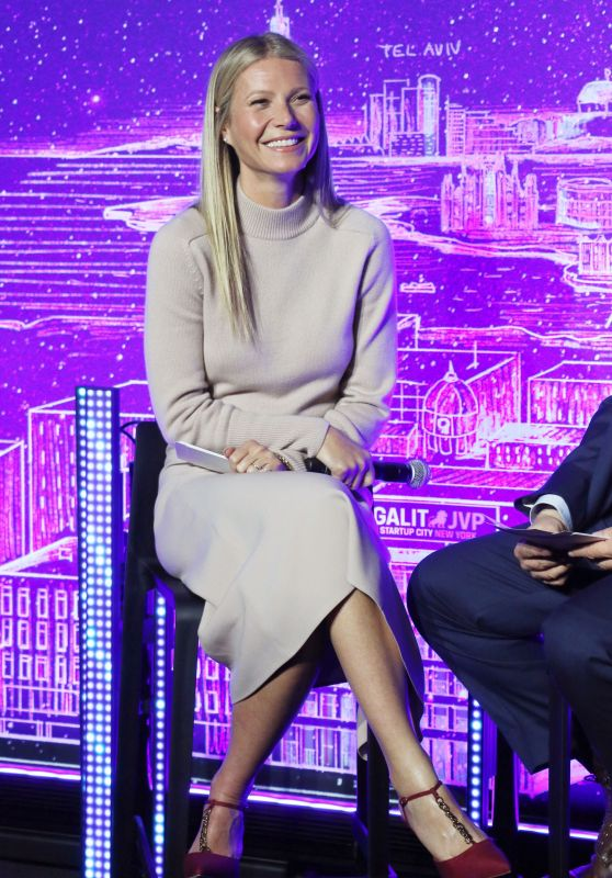 Gwyneth Paltrow - Host Panel Discussion with Dr. Erel Margalit in NY