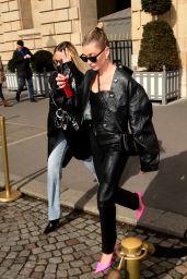 Hailey Rhode Bieber - Arrives at the Dior Show in Paris 02/25/2020
