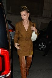 Hailey Rhode Bieber - Heads to Dinner in Paris 02/26/2020